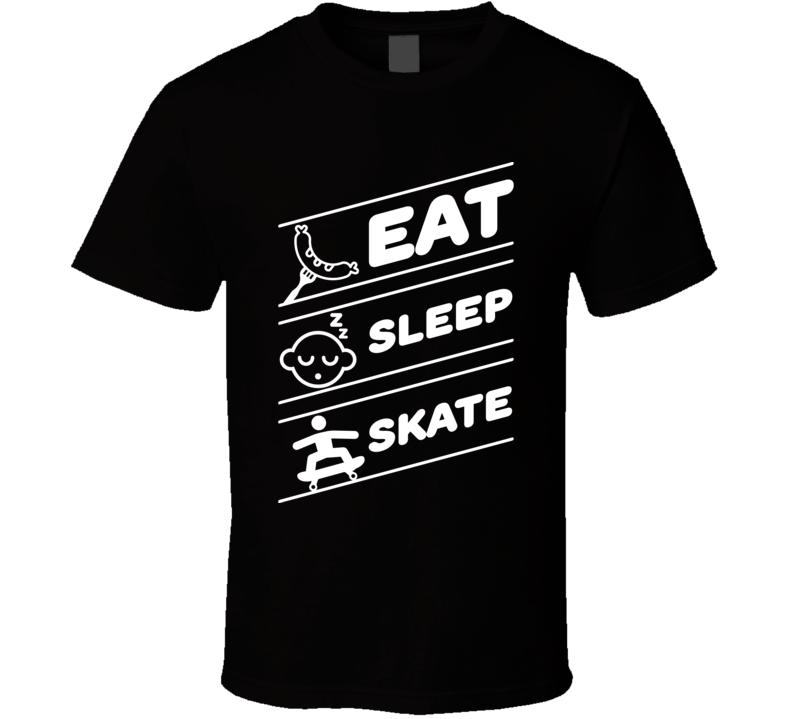 Eat Sleep Skate Funny Skater Extreme Sports T Shirt