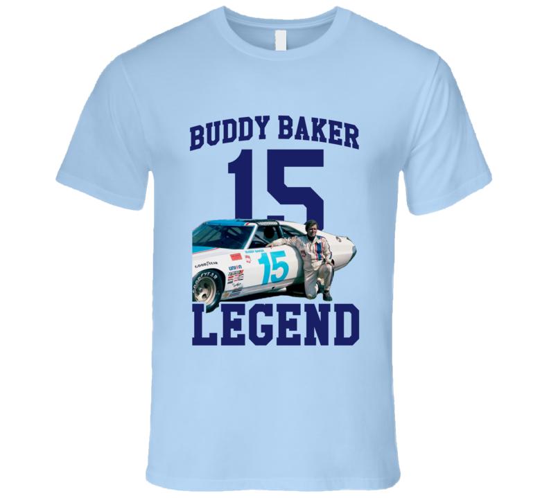Buddy Baker Racing Legend Auto 15 T Shirt