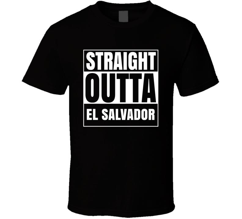 Straight Outta El Salvador Country Pride Compton Parody T Shirt