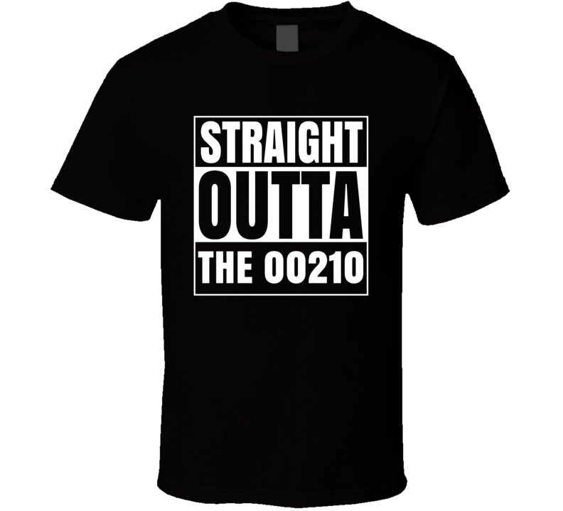 Straight Outta The 00210 Portsmouth New Hampshire Parody T Shirt