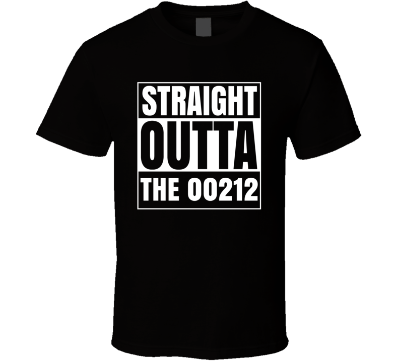 Straight Outta The 00212 Portsmouth New Hampshire Parody T Shirt