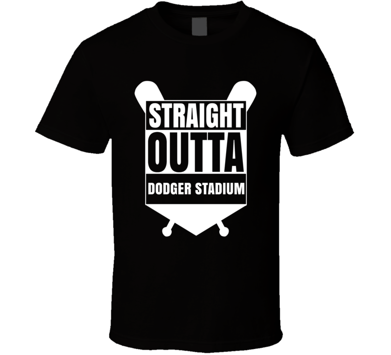 Straight Outta Dodger Stadium Los Angeles Baseball Fan T Shirt