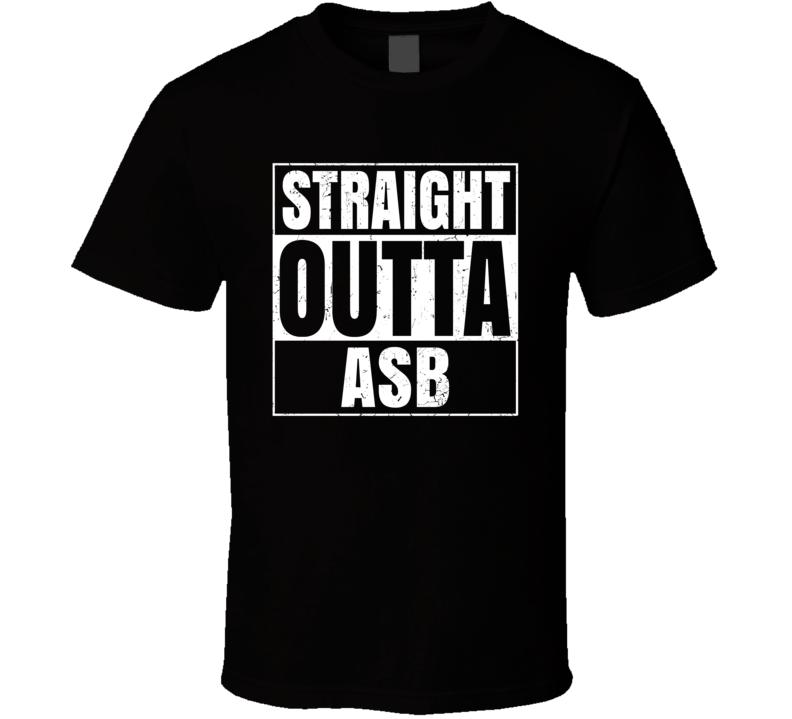 Straight Outta ASB Turkmenistan Airport Code Parody T Shirt