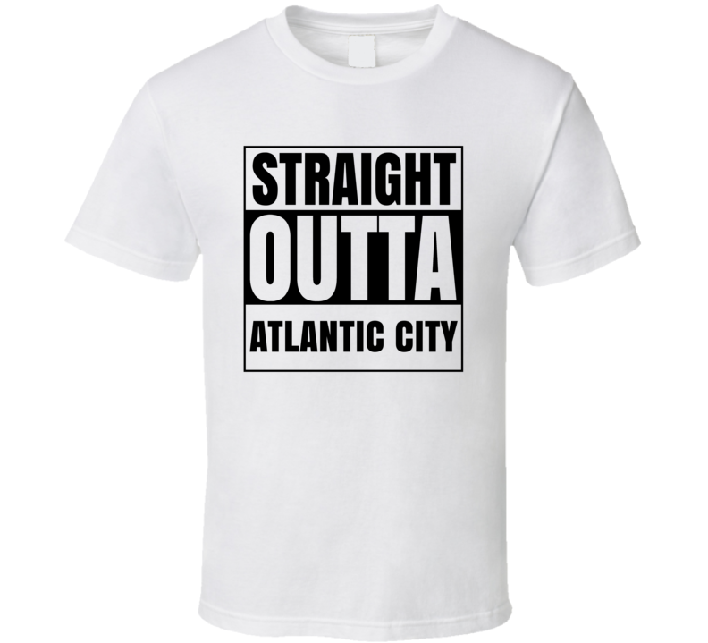 Straight Outta Atlantic City New Jersey City Compton Parody T Shirt