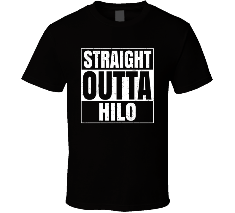 Straight Outta Hilo Airport Code Parody T Shirt