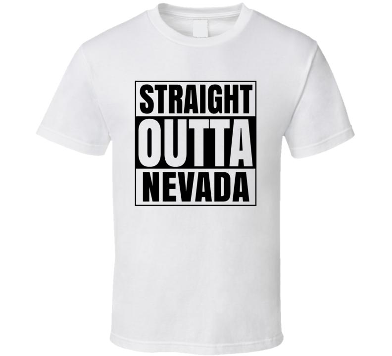 Straight Outta Nevada Iowa City Compton Parody T Shirt