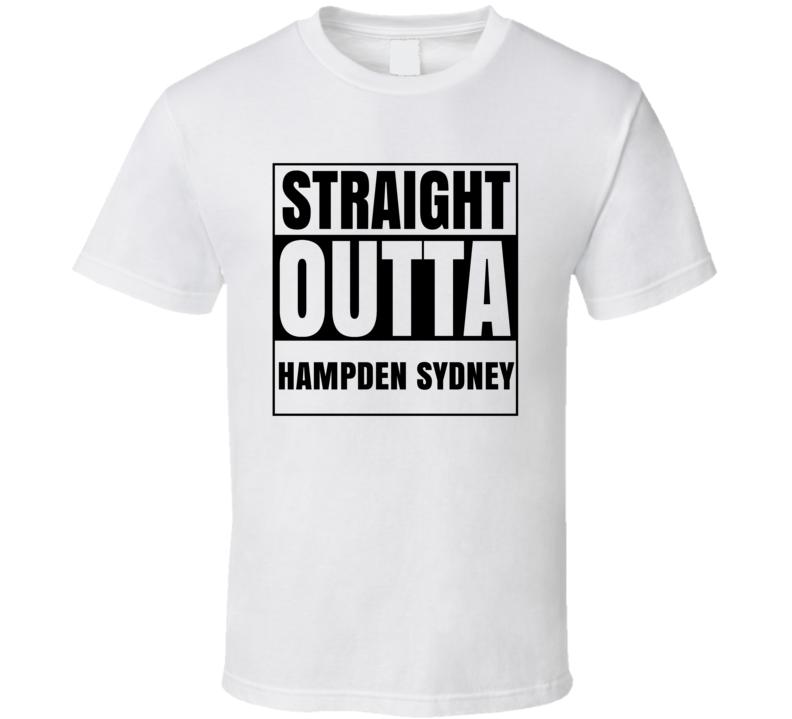 Straight Outta Hampden Sydney Virginia City Compton Parody T Shirt