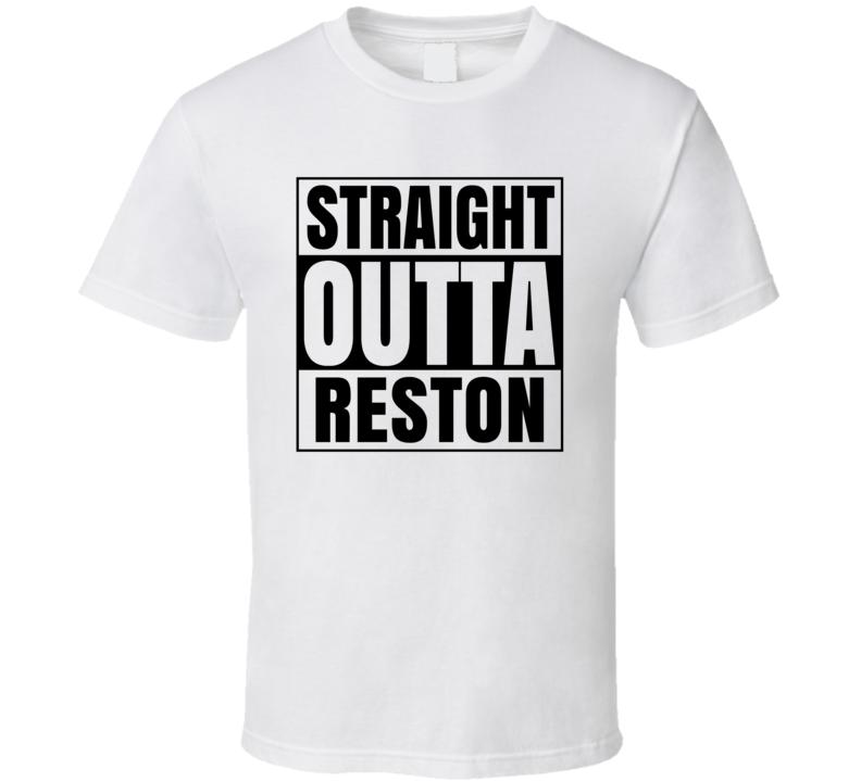 Straight Outta Reston Virginia City Compton Parody T Shirt
