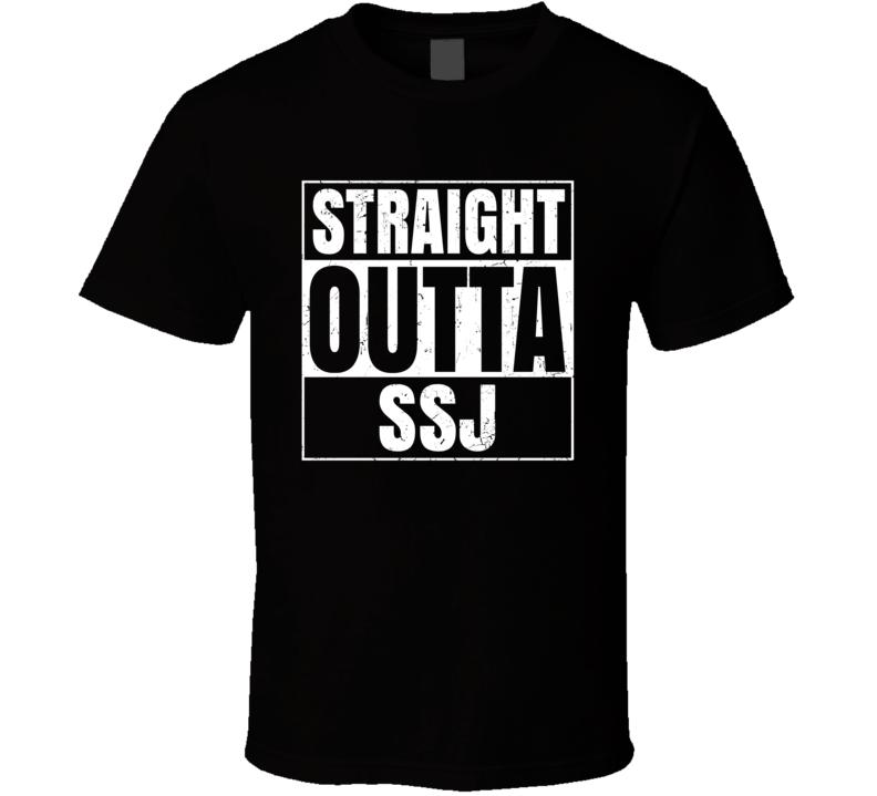 Straight Outta SSJ Norway Stokka Airport Code Parody T Shirt