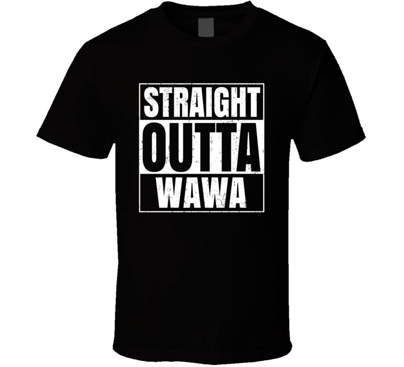 Straight Outta Wawa Airport Code Parody T Shirt