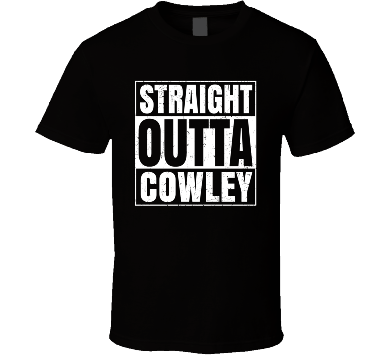 Straight Outta Cowley Wyoming City Compton Parody Grunge T Shirt