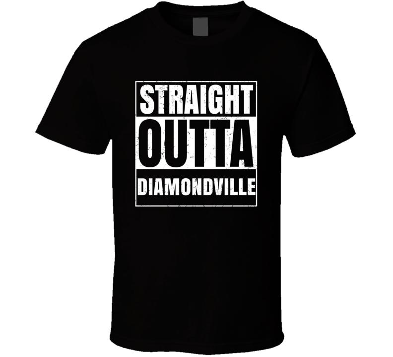 Straight Outta Diamondville Wyoming City Compton Parody Grunge T Shirt