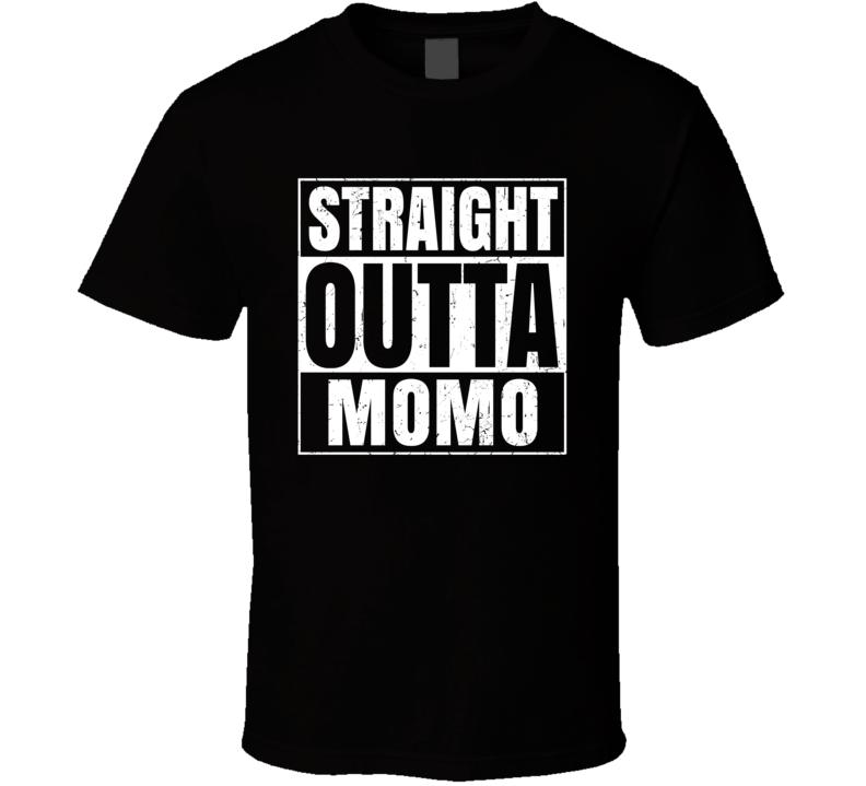 Straight Outta Momo Food Compton Parody T Shirt