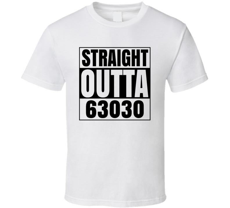 Straight Outta 63030 Fletcher Missouri Compton Parody T Shirt