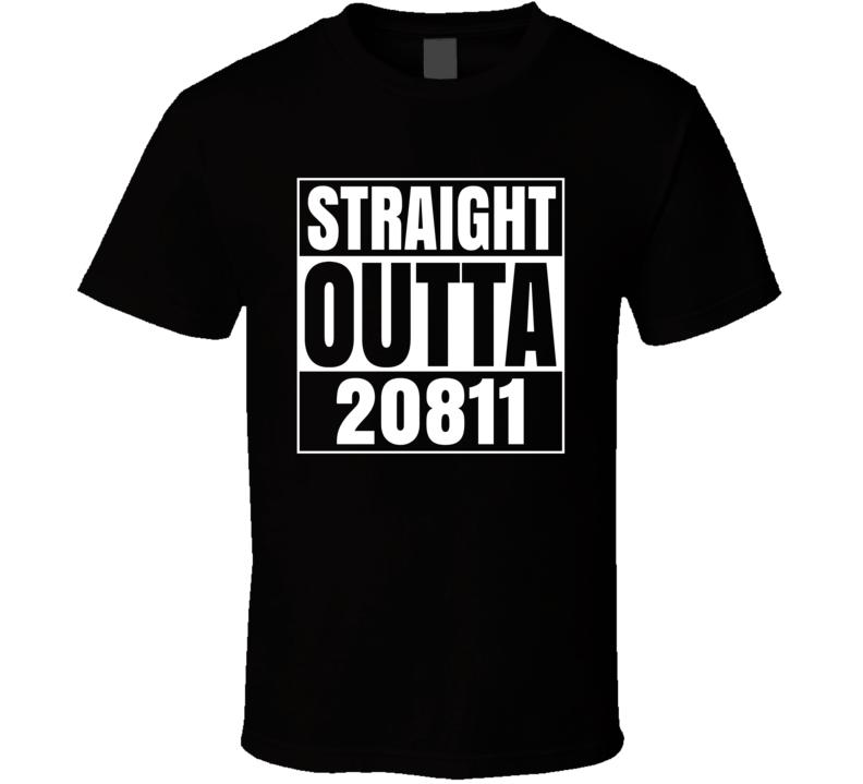 Straight Outta 20811 Bethesda Maryland Parody T Shirt