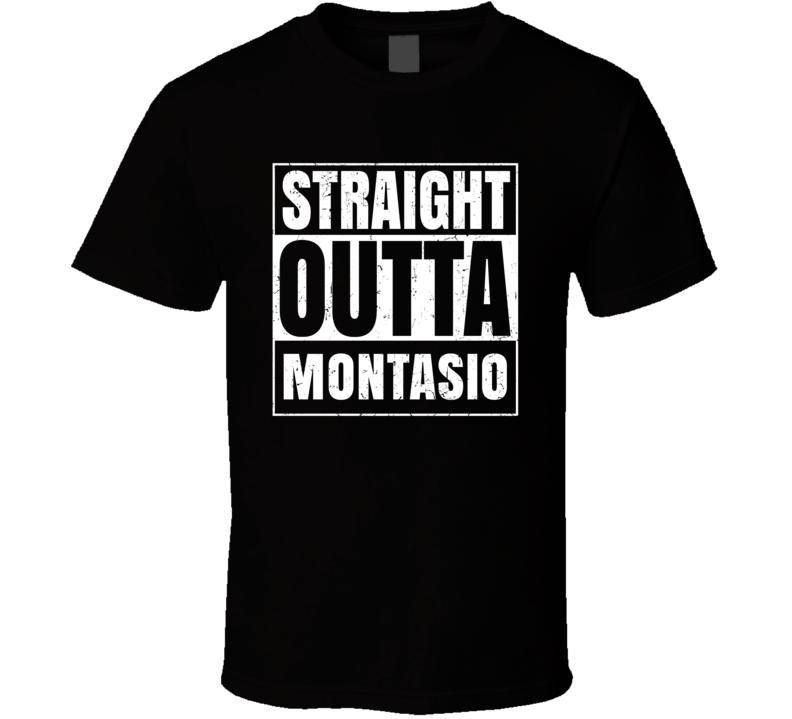 Straight Outta Montasio Food Compton Parody T Shirt