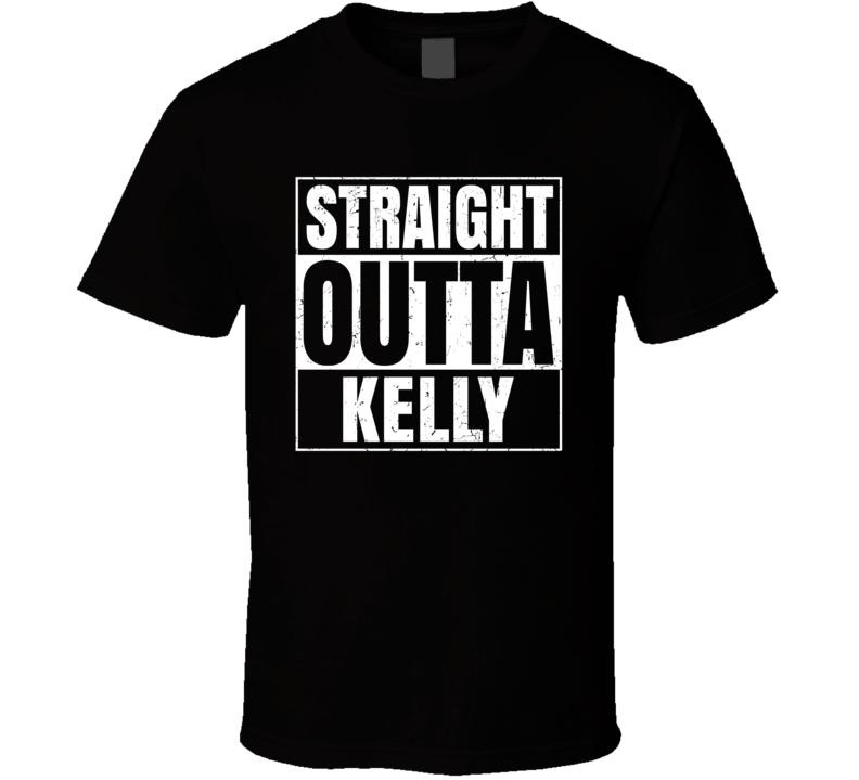 Straight Outta Kelly Wyoming City Compton Parody Grunge T Shirt