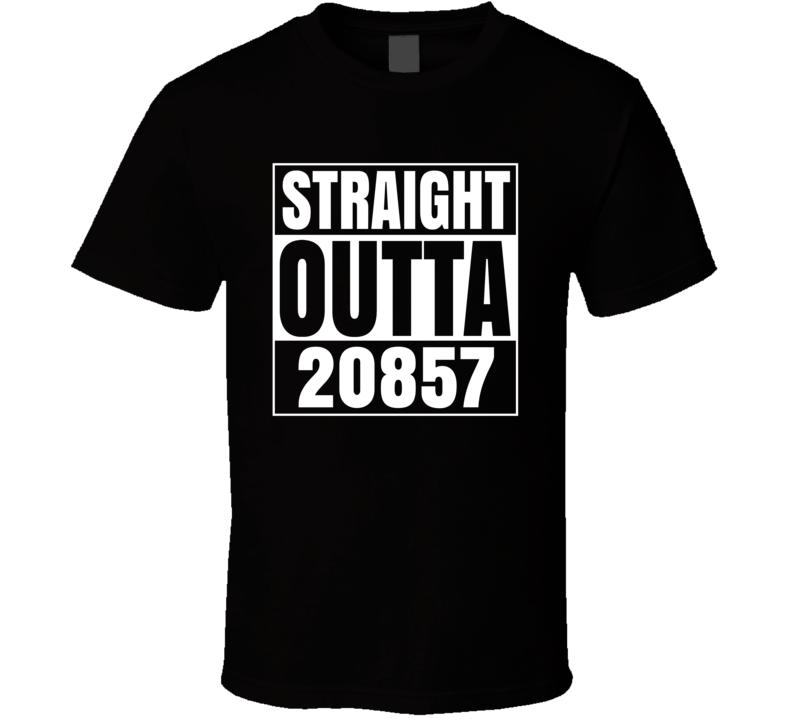 Straight Outta 20857 Rockville Maryland Parody T Shirt