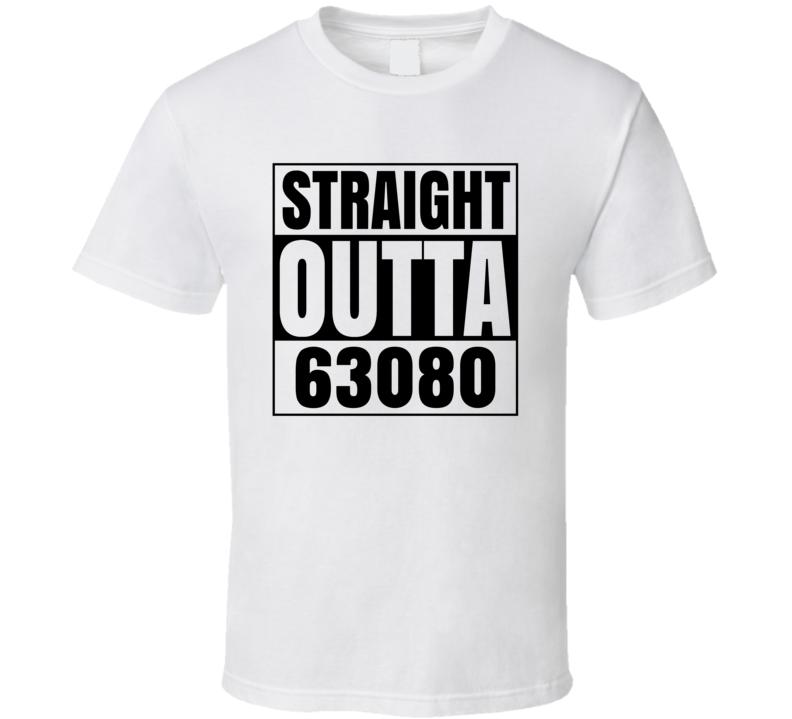 Straight Outta 63080 Sullivan Missouri Compton Parody T Shirt