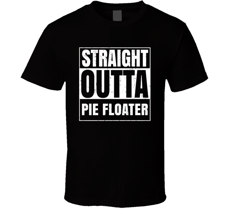 Straight Outta Pie Floater Food Compton Parody T Shirt