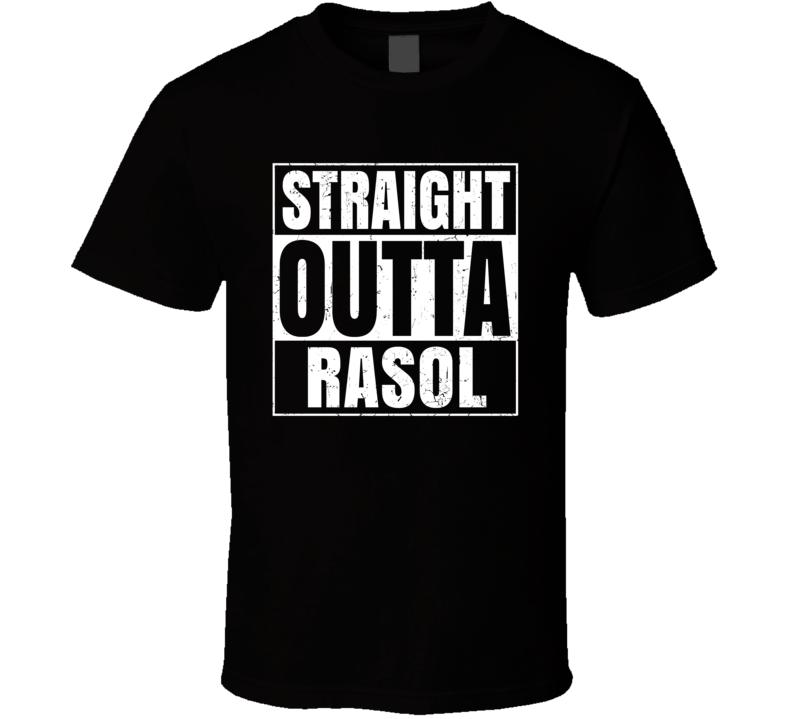 Straight Outta Rasol Food Compton Parody T Shirt