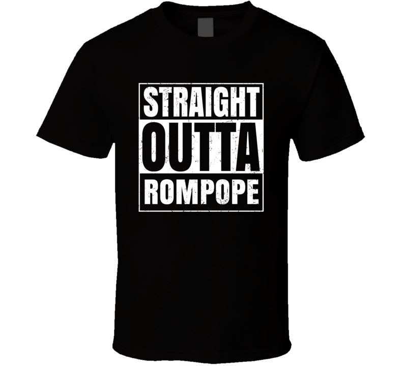Straight Outta Rompope Food Compton Parody T Shirt
