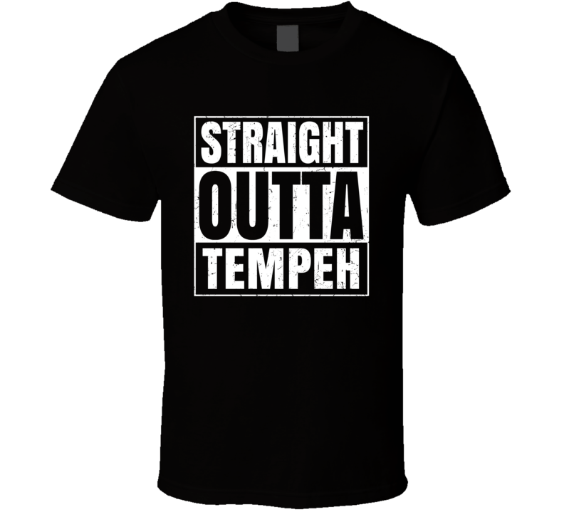 Straight Outta Tempeh Food Compton Parody T Shirt