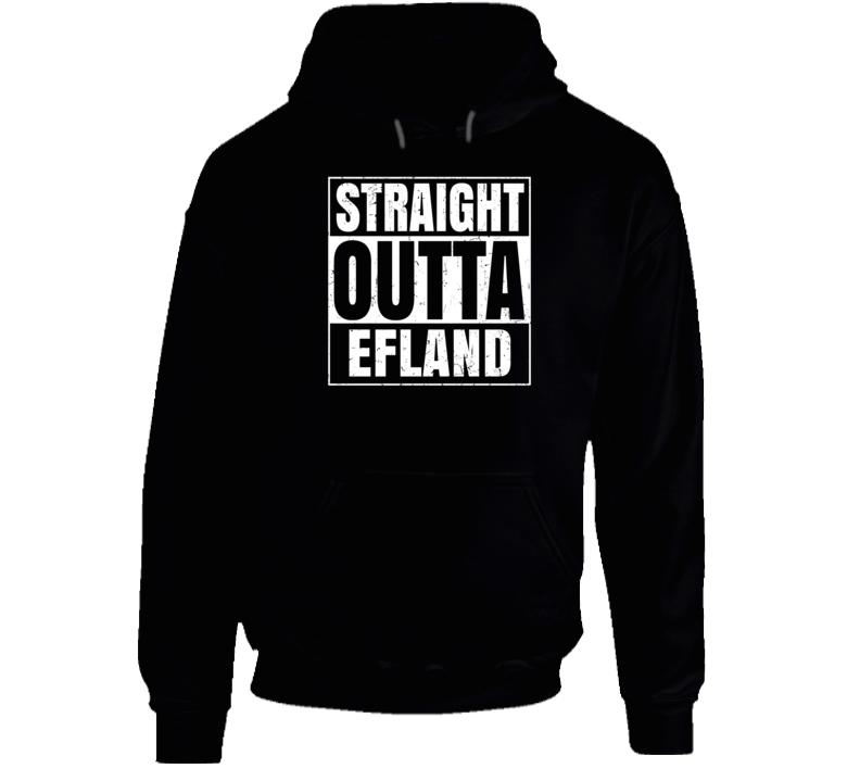 Straight Outta Efland North Carolina City Pride Parody T Shirt