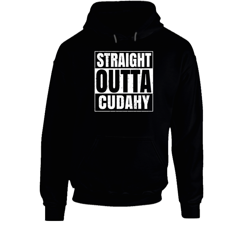 Straight Outta Cudahy Wisconsin City Pride Parody T Shirt
