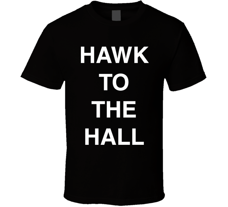 Hawk To The Hall Chicago Baseball T Shirt