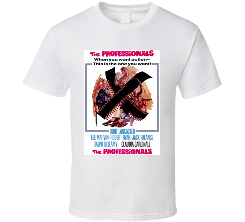 The Professionals Western Movie Burt Lancaster Lee Marvin T Shirt
