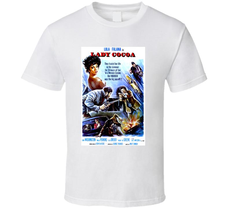 Blaxploitation Black 70's Movie Lady Cocoa Lola Falana Greene Washington T Shirt