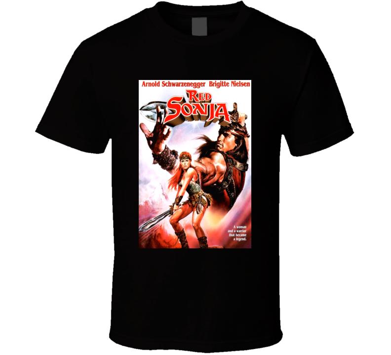 Brigitte Nielsen Red Sonja Arnold Schwarzenegger T Shirt