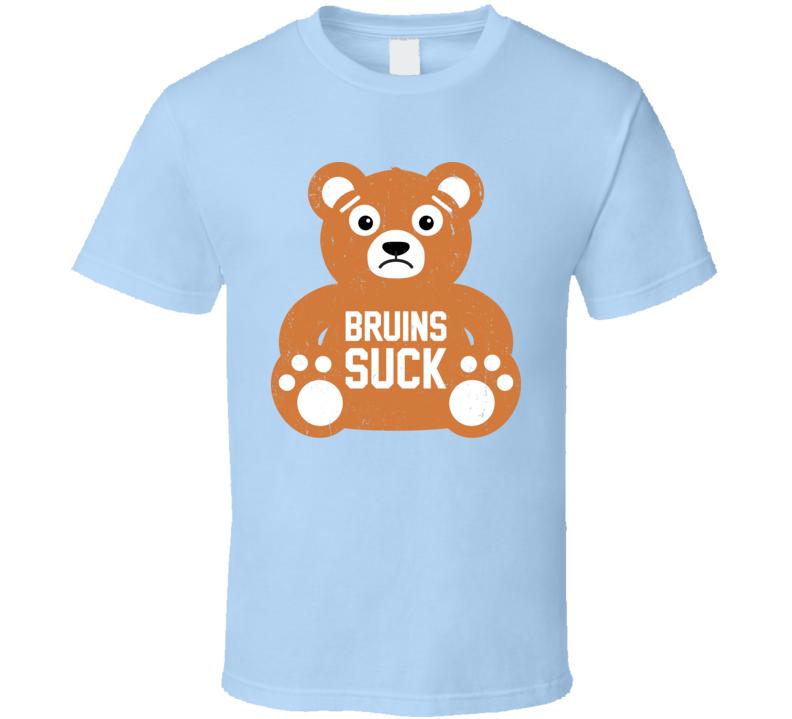 Bruins Suck Funny Hockey Teddy Bear Distressed T Shirt