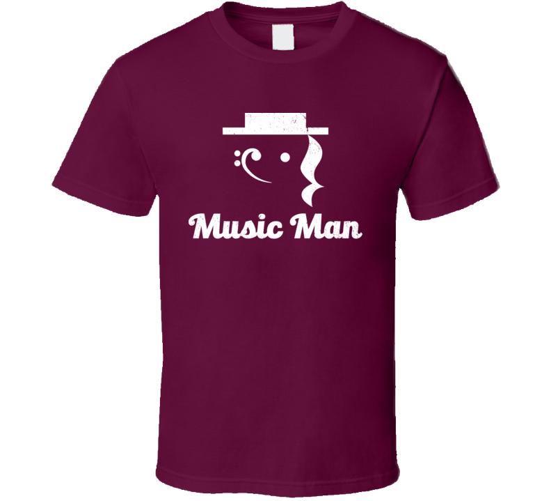 Music Man Funny Musician Symbols T Shirt
