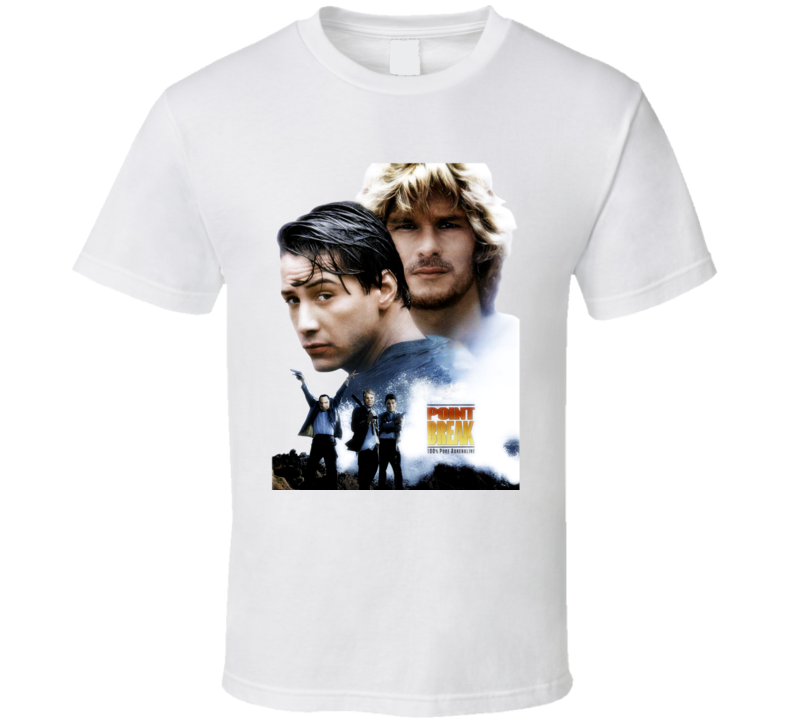 Point Break Keanu Reeves Action Movie T Shirt