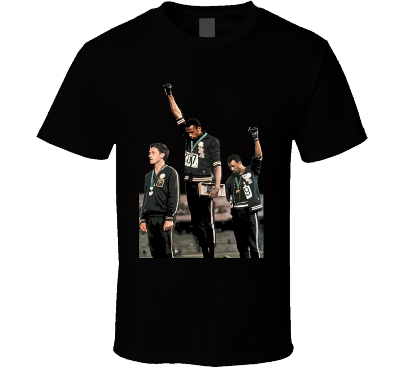John Carlos Tommie Smith Black Power Salute 1968 Summer Olympics T Shirt