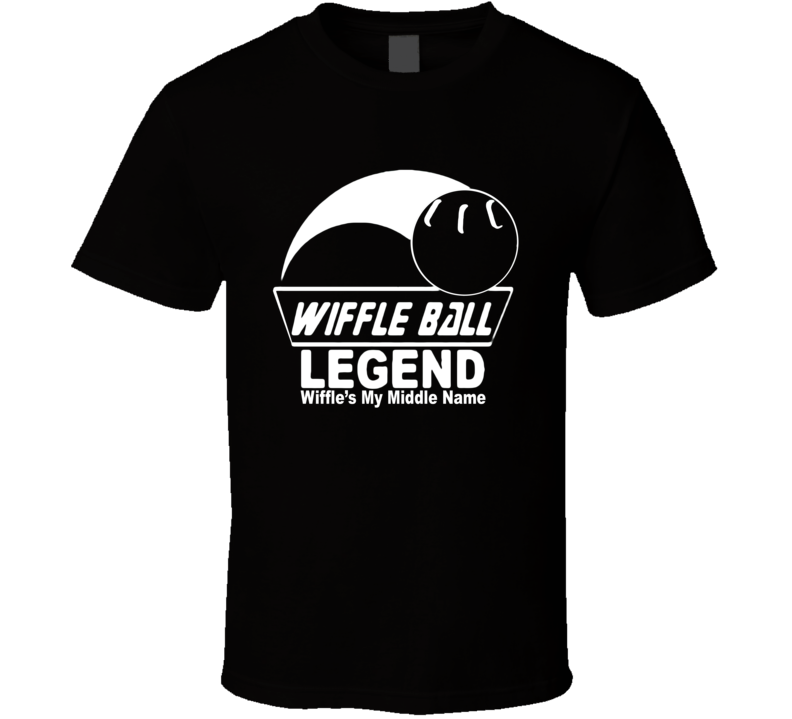 Funny Baseball Whiffle Wiffle Ball Legend Wiffle's My Middle Name T Shirt