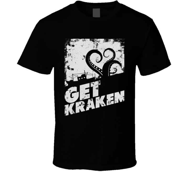 Get Kraken Funny Pirate Octopus Sailing Moby Dick T Shirt