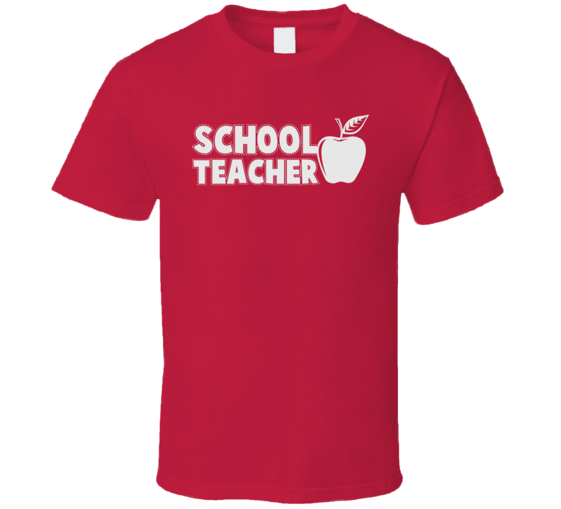School Teacher Funny Teaching Apple T Shirt