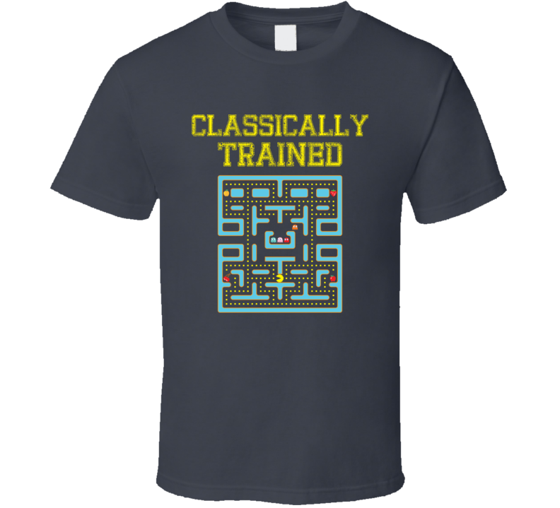 Classically Trained Old School Video Game Geek T Shirt