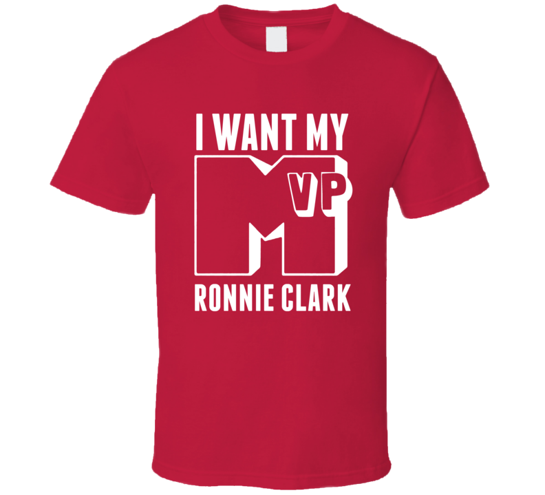 I Want My MVP Ronnie Clark Alabama College Athlete T Shirt