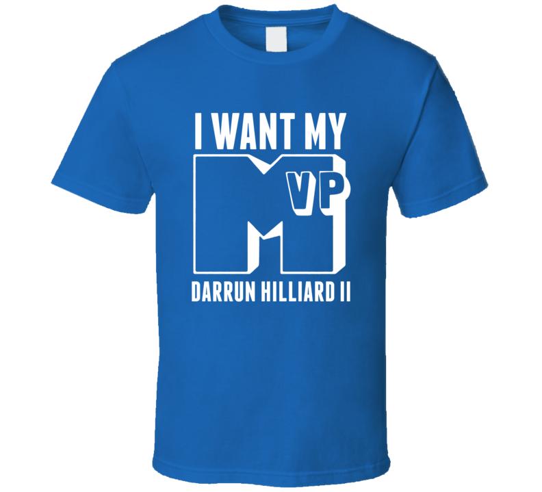 I Want My MVP Darrun Hilliard Ii Villanova Basketball Athlete T Shirt
