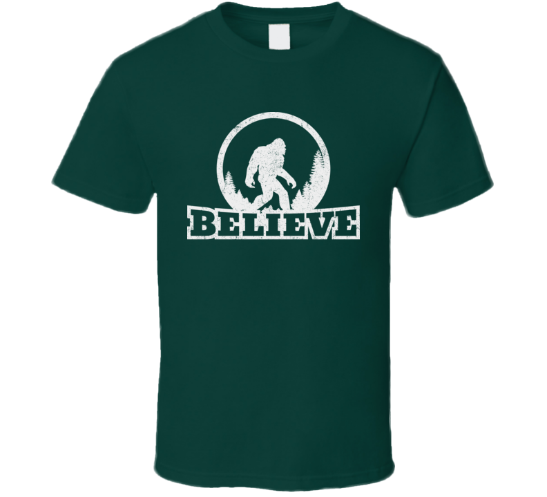 BigFoot Sasquatch Believe Legendary Mythical Creatures Woods Forest T Shirt