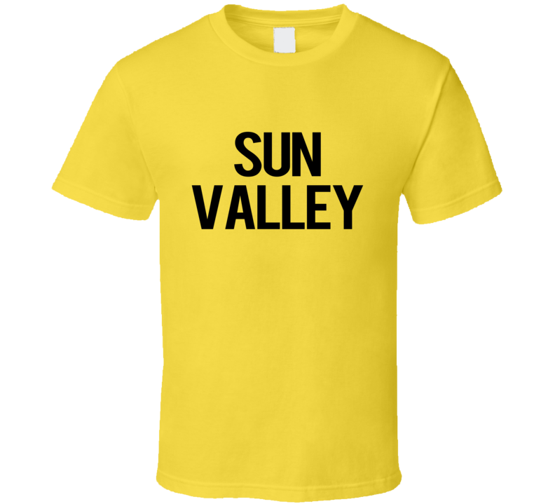 Sun Valley Popular Simpsons TV Show T Shirt