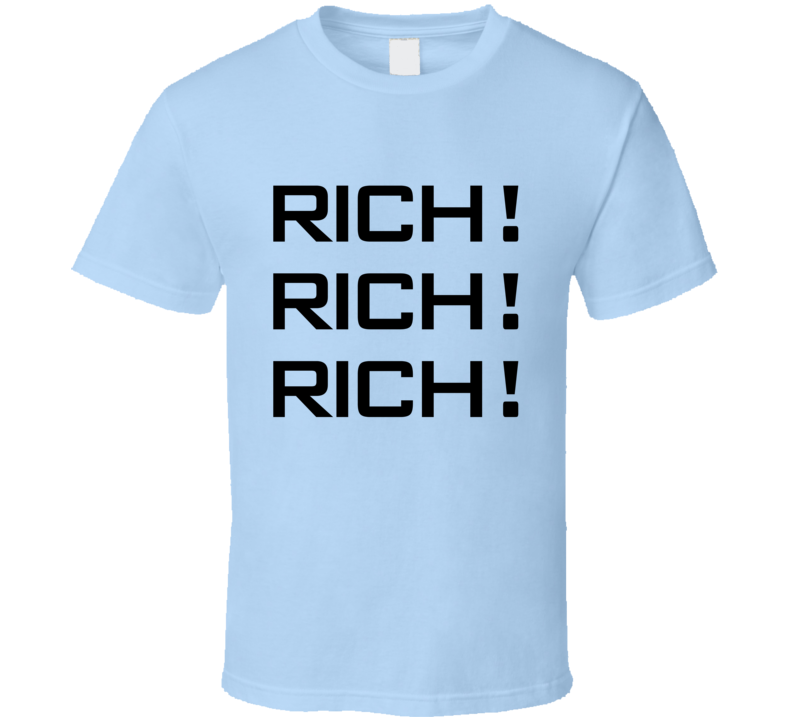 Rich Rich Rich The Simpsons Popular TV Show T Shirt