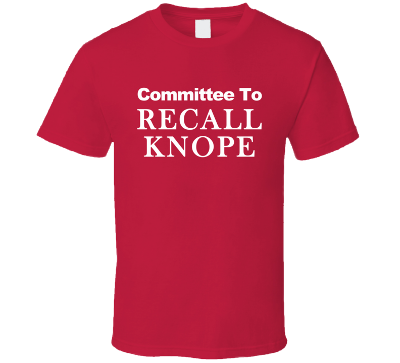 Committee To Recall Knope Parks and Recreation Fun TV Show T Shirt