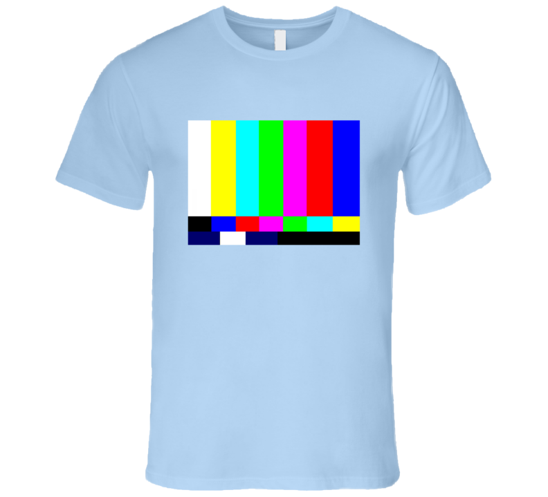 TV Test Pattern Popular Big Bang Theory TV Show T Shirt
