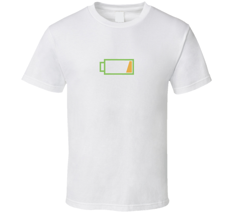 Low Battery Popular Silicon Valley TV Show T Shirt