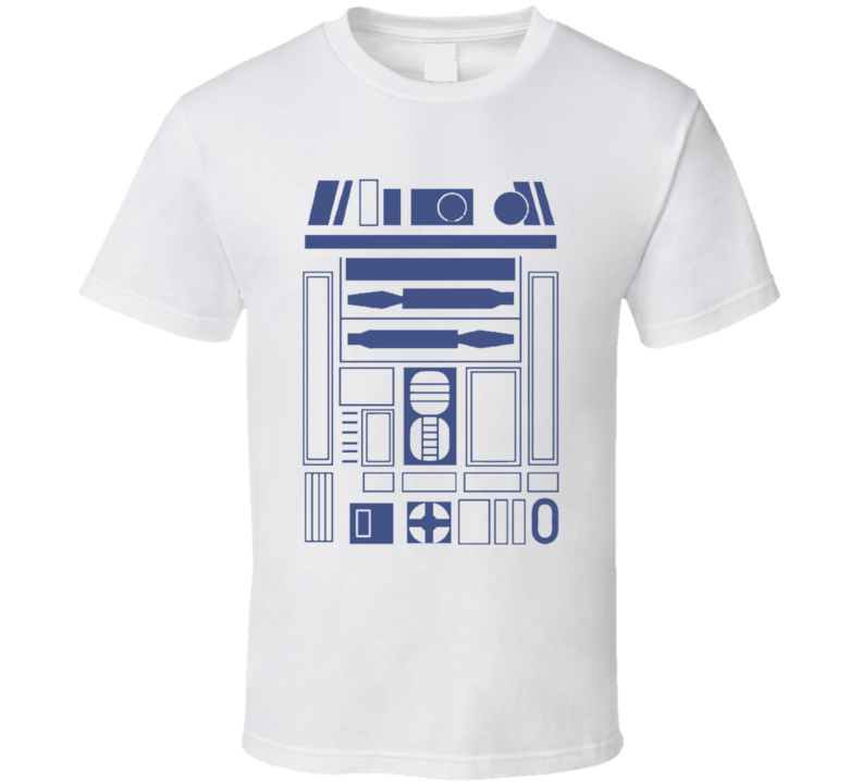 R2D2 Fun Star Wars Droid Funny Geek Halloween Costume Graphic Nerd Tee Shirt